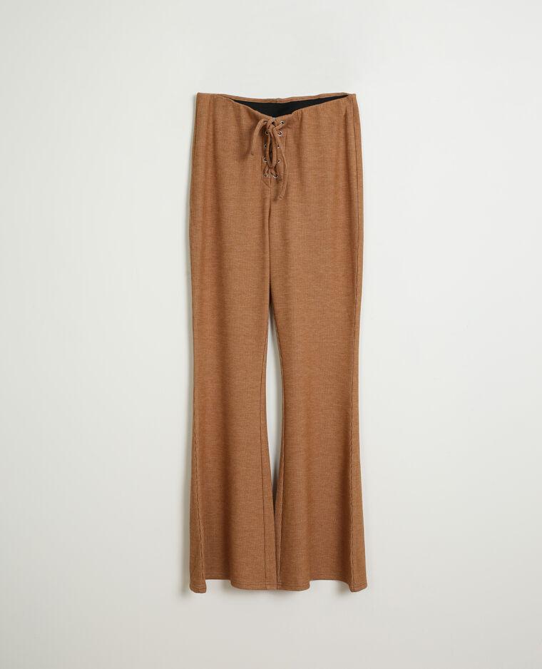 Pantalone in maglia marrone