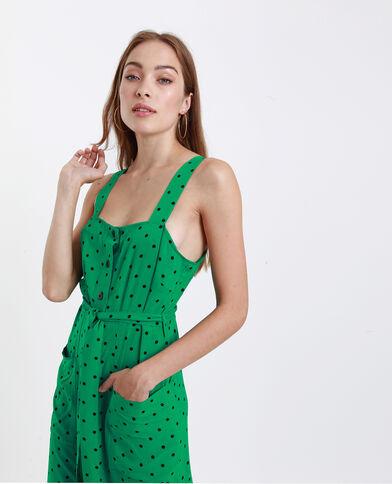 Abito midi con spalline verde