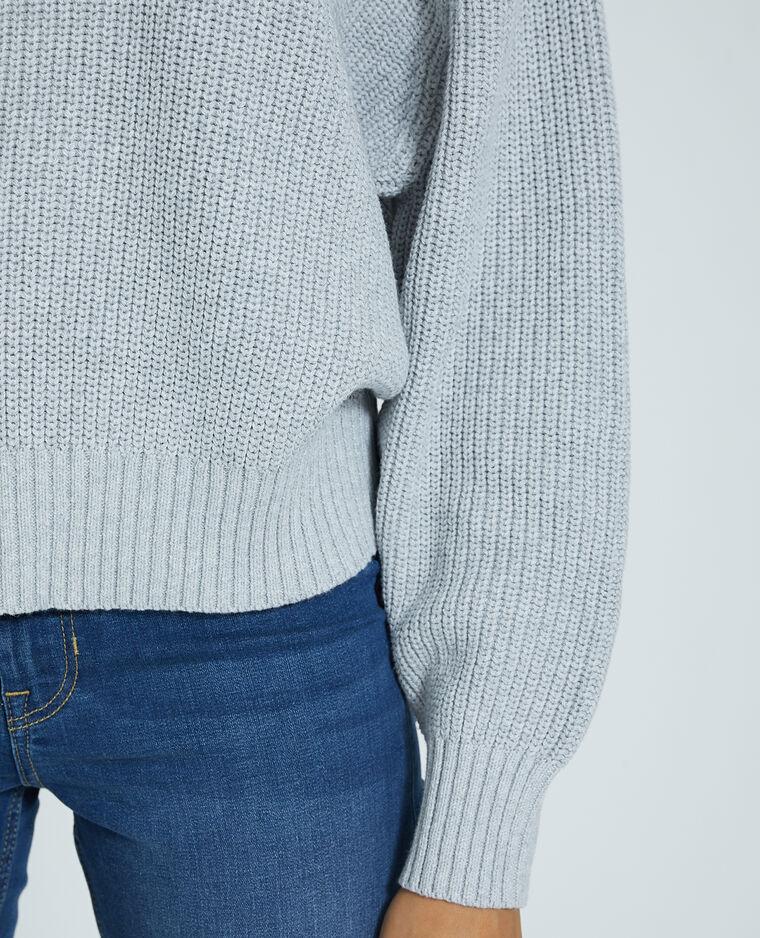Pull in maglia grigio - Pimkie