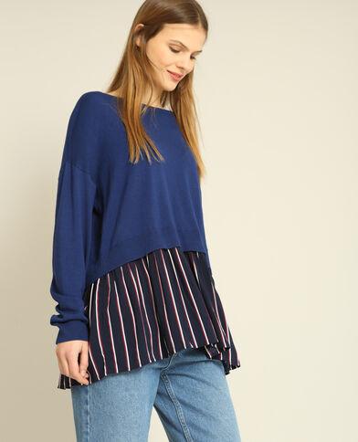 Pull camicia blu marino
