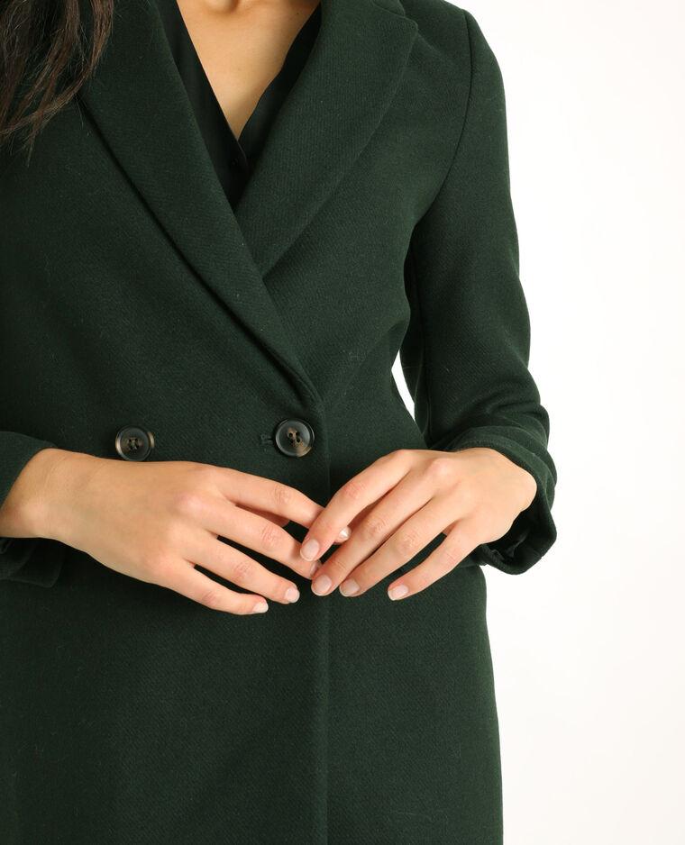 Cappotto in panno di lana verde