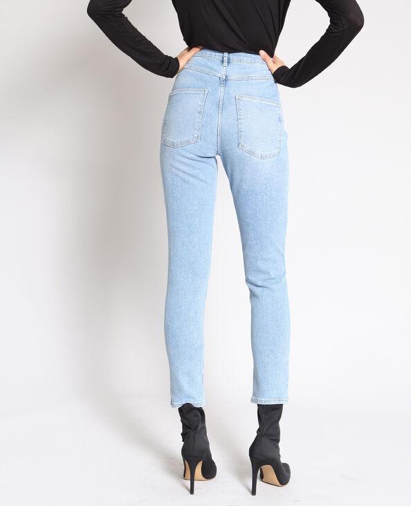 Jeans slim a vita alta blu