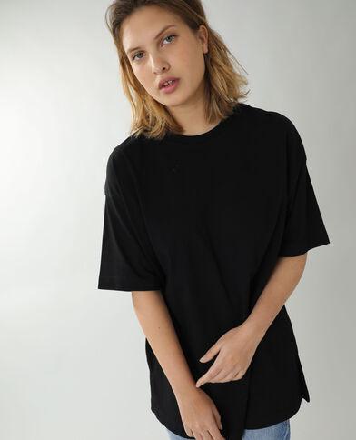 T-shirt basic oversize nero
