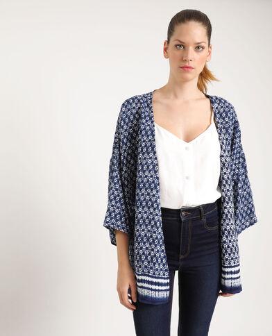 Kimono stampato blu