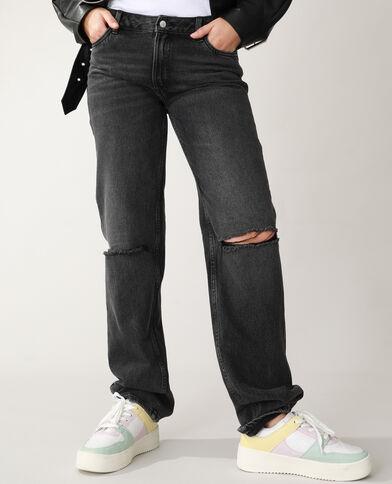 Jeans straight high waist nero - Pimkie