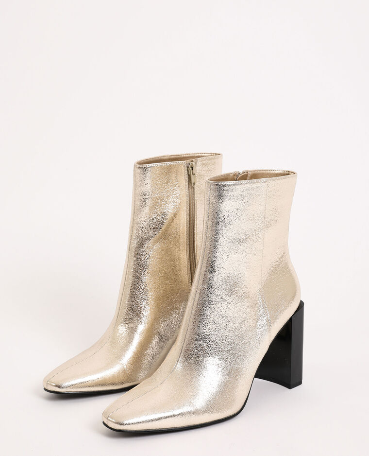 Stivali con tacco dorato