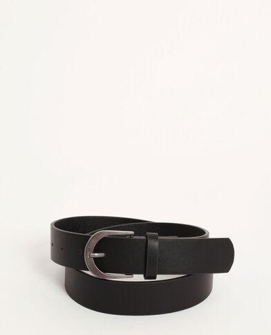 Cintura con fibbia opaca nero