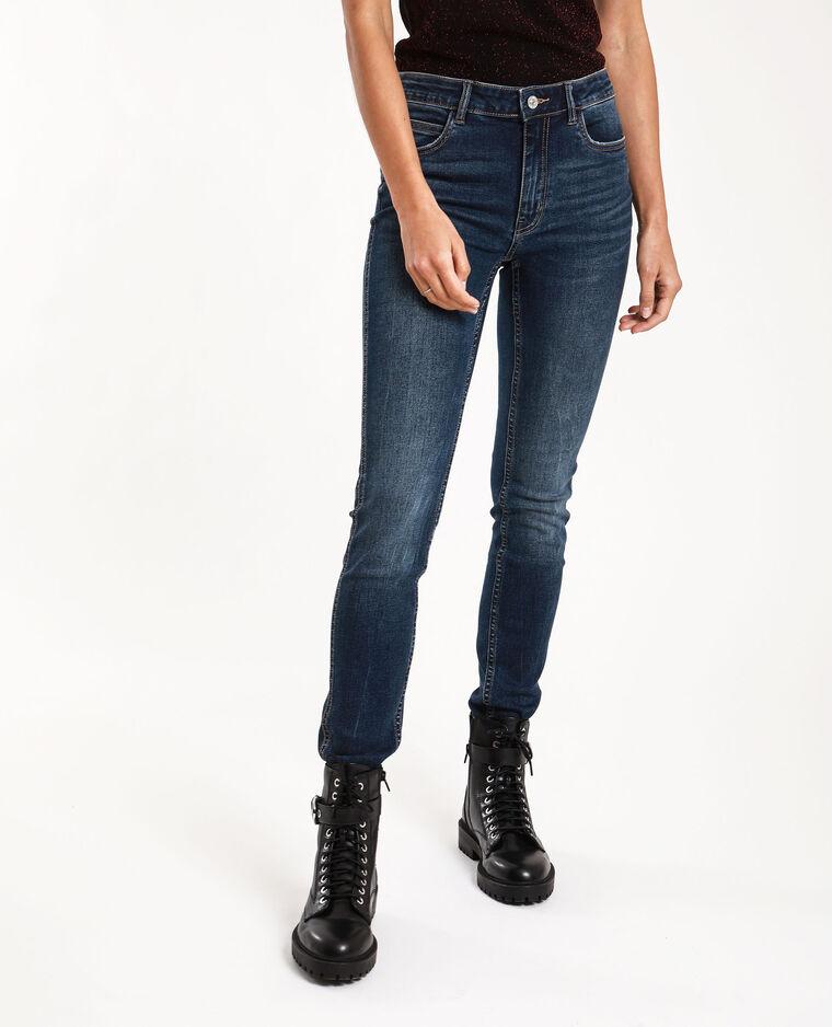 Jeans push up mid waist blu grezzo