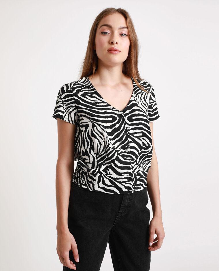 Camicia zebrata nero