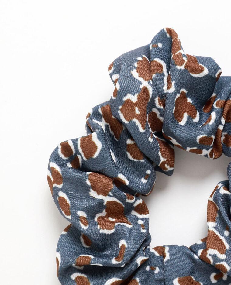 Elastico per capelli stampato grigio blu