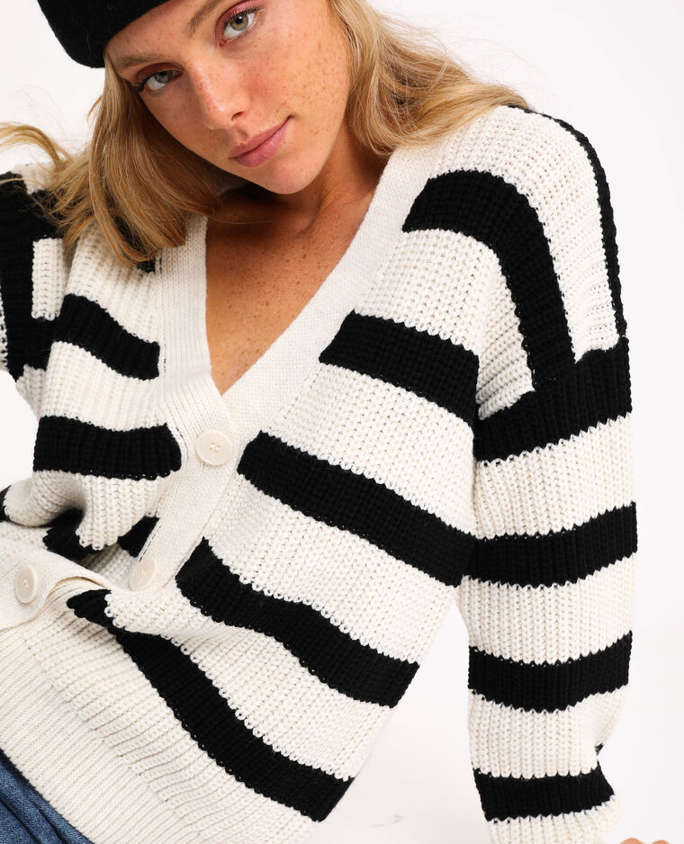 Cardigan in maglia spessa nero - Pimkie