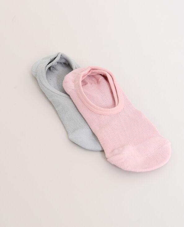 Lotto da 2 paia di calze basse grigio