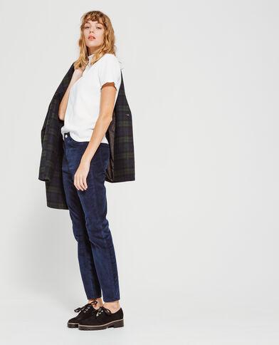 Pantalone skinny velluto blu marino