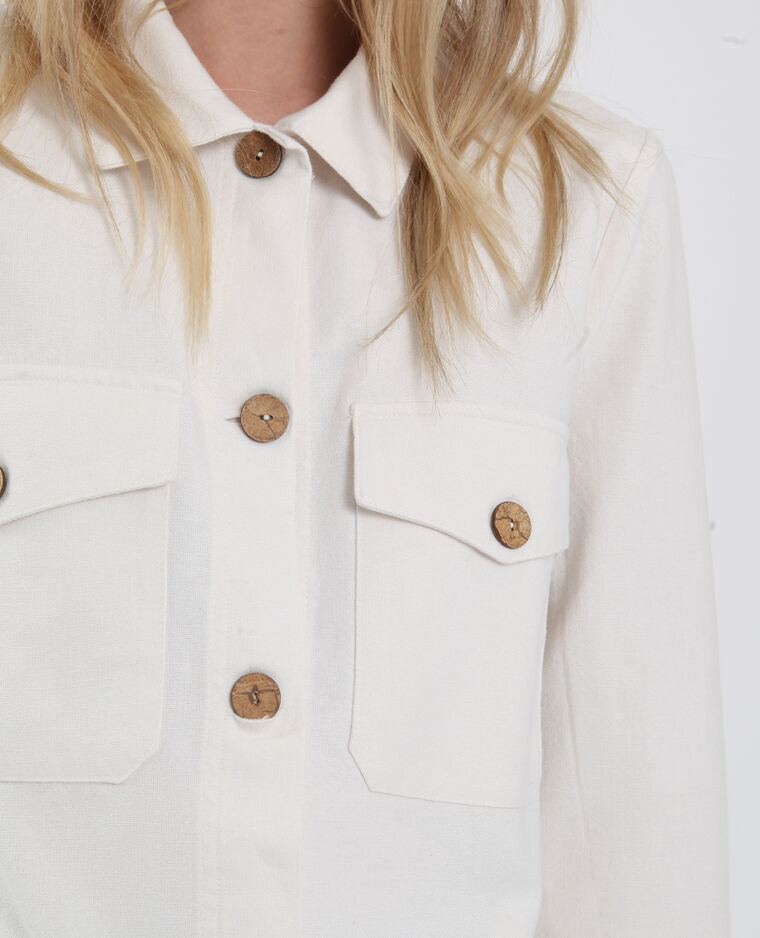 Giacca leggera bianco sporco
