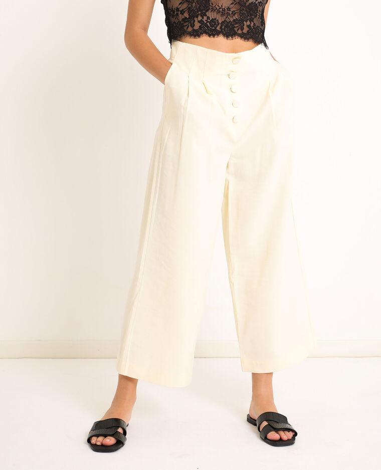 Pantalone a gamba ampia bianco