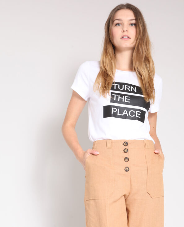 T-shirt stampata bianco
