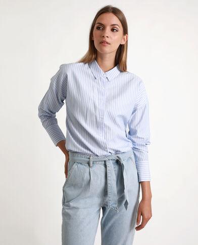 Camicia a righe blu chiaro