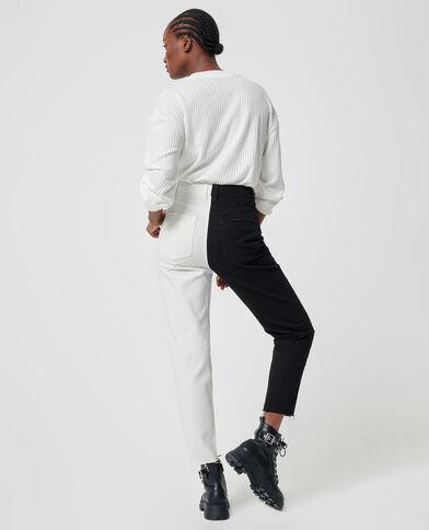 Jeans bicolore nero - Pimkie