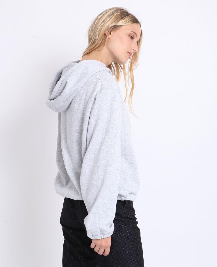 Felpa con cappuccio grigio
