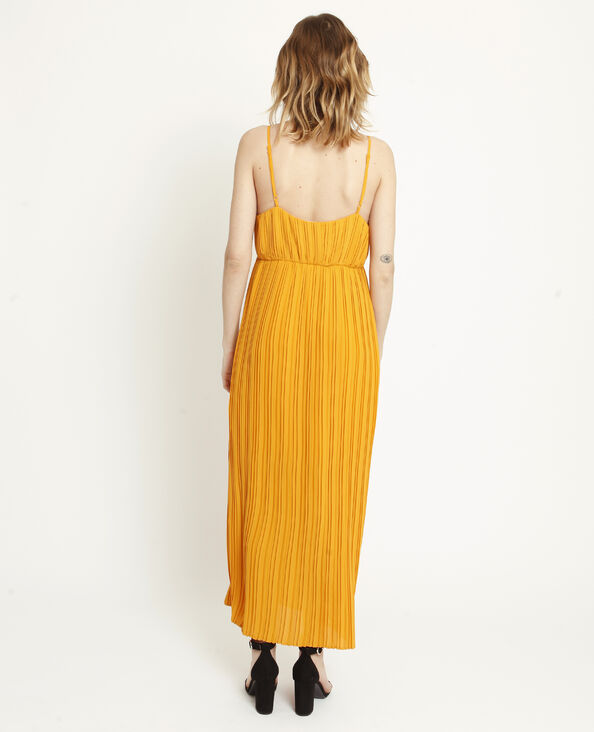 Abito lungo plissettato giallo