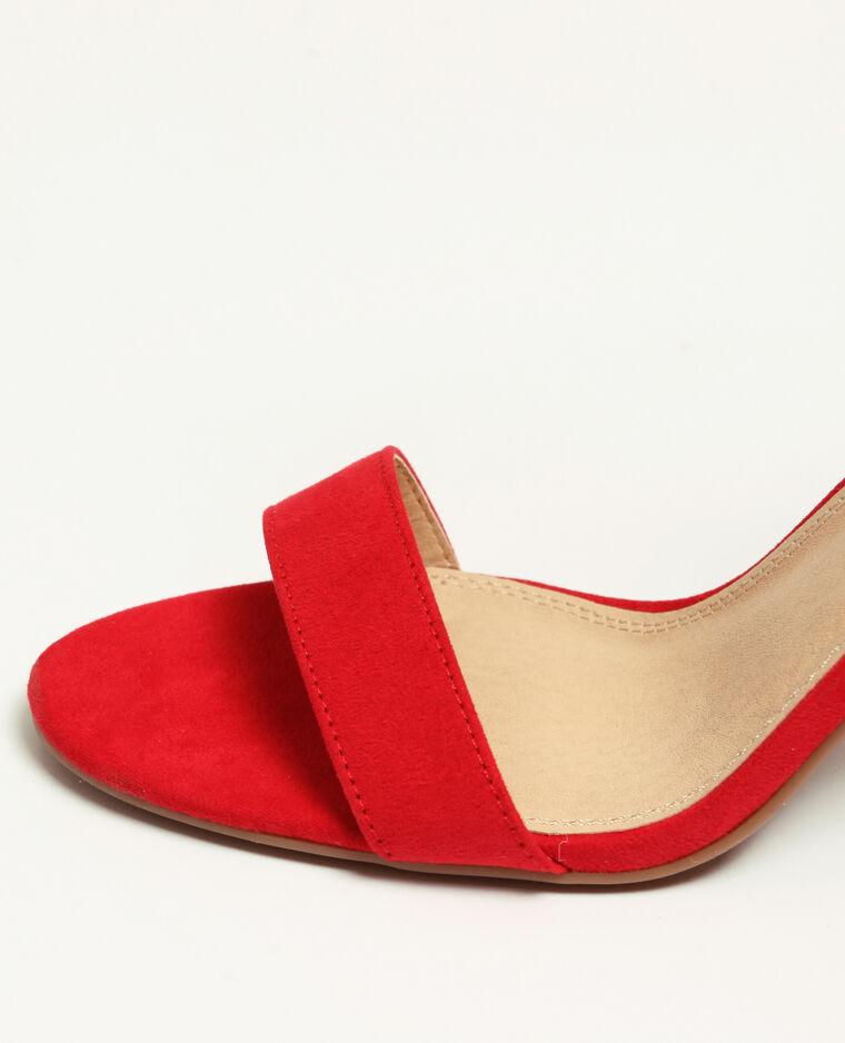 Sandali con tacchi arancio