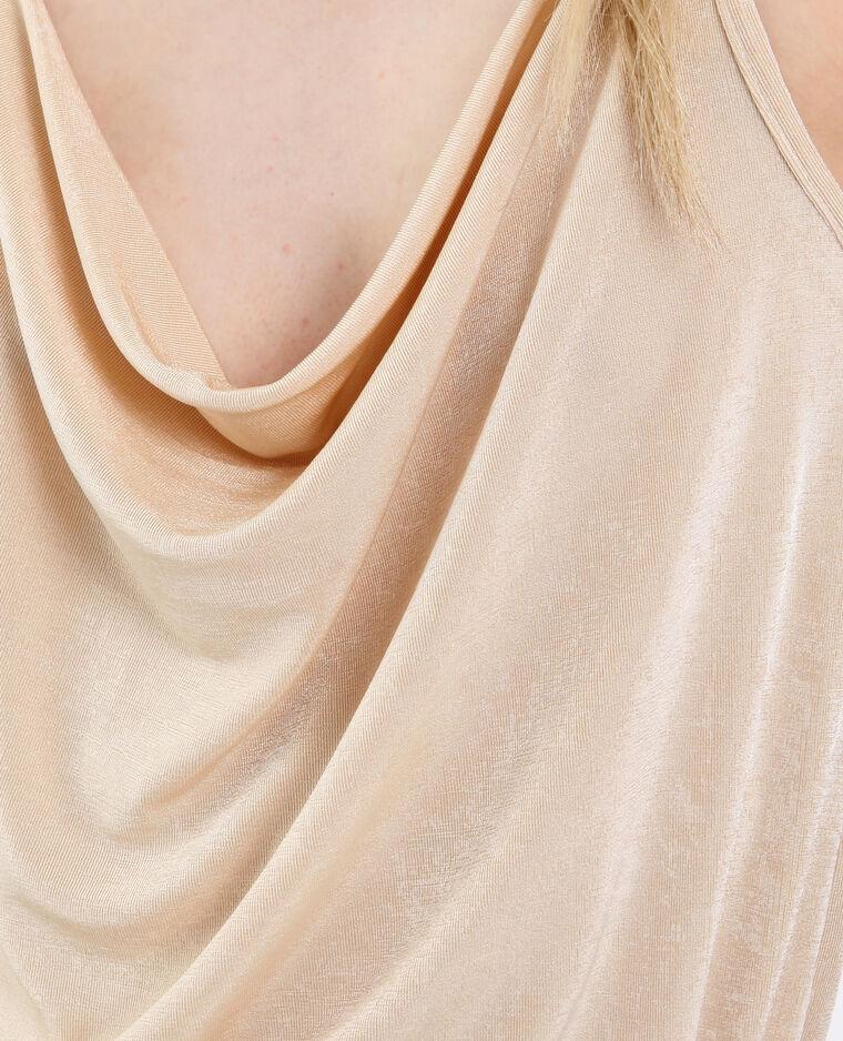 Top con spalline sottili beige