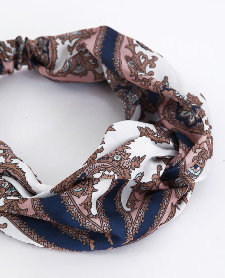 Headband satinata rosa cipria