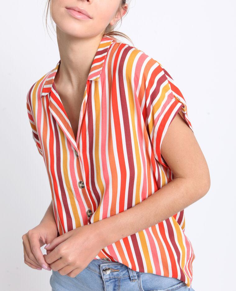 Camicia maniche corte Rosso