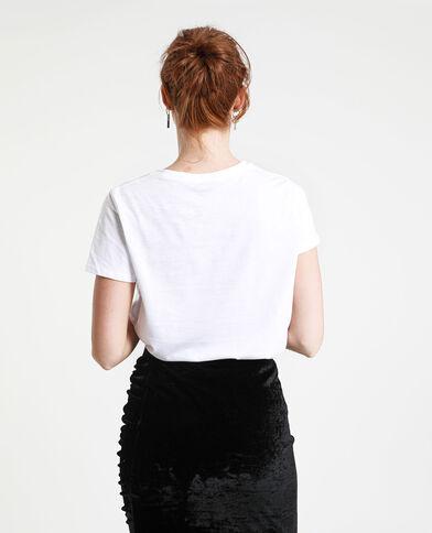 T-shirt Sorority bianco