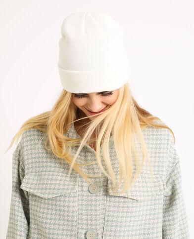 Berretto in maglia beige