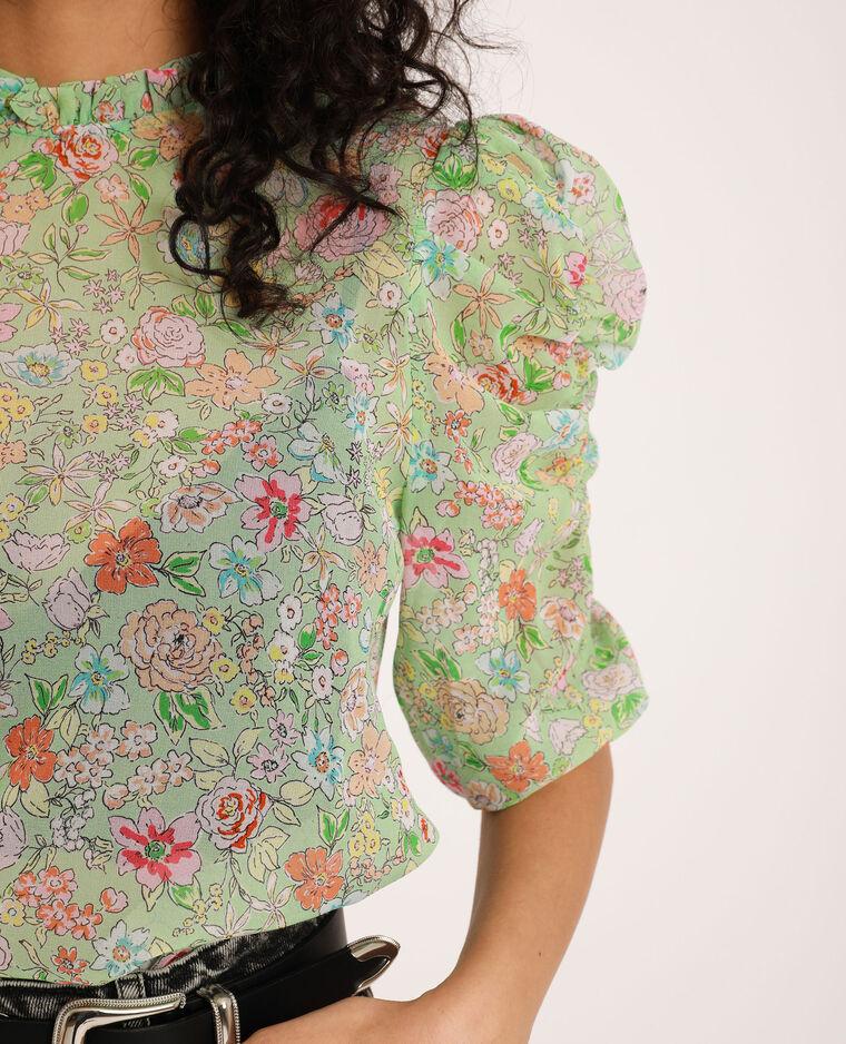 Blusa a fiori verde - Pimkie