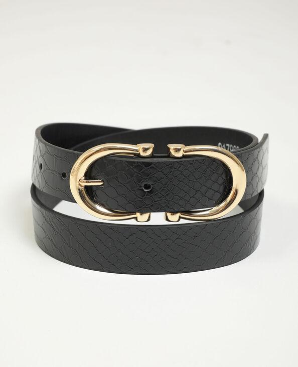 Cintura in similpelle con doppia fibbia nero - Pimkie