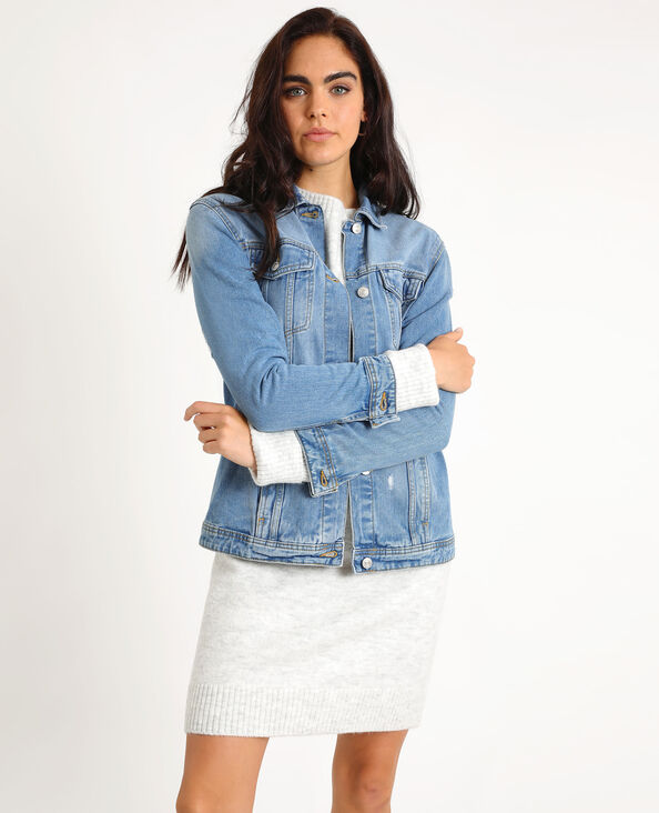 Giacca in jeans larga blu denim