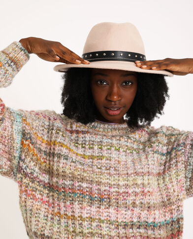 Cappello in lana beige