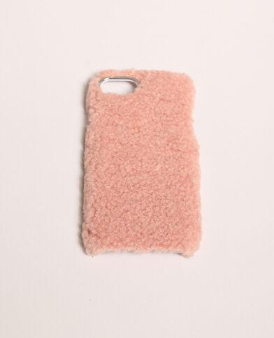 - Custodia iPhone pelliccia Rosa