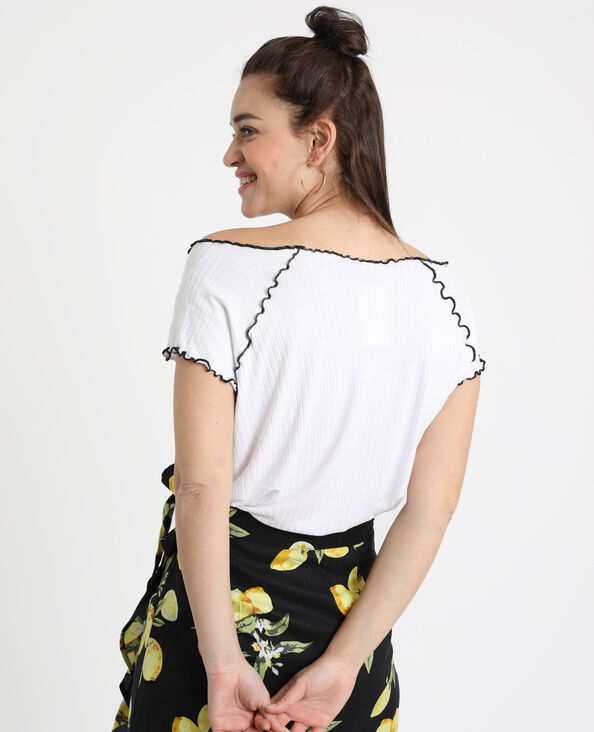 T-shirt con texture bianco