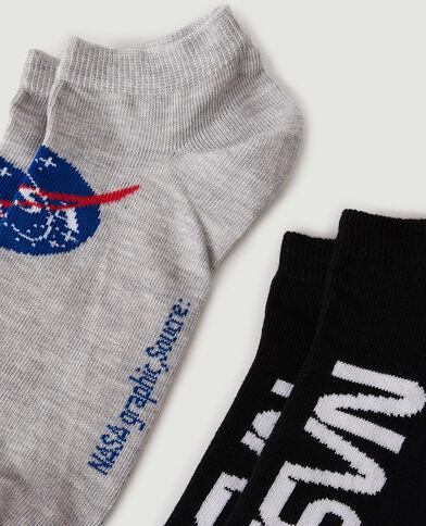 Lotto di 2 paia di calzini NASA nero - Pimkie