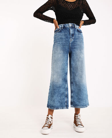 Jeans wide leg blu denim