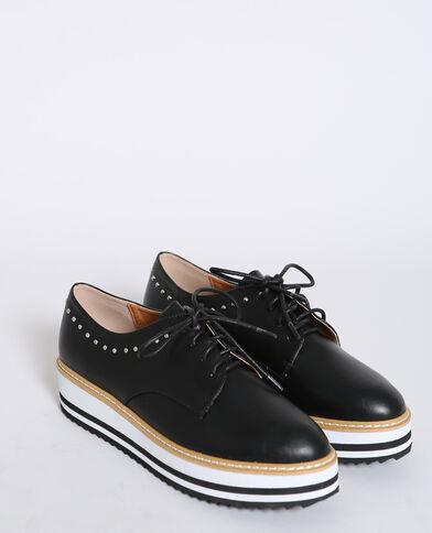 Scarpe derby in finta pelle nero