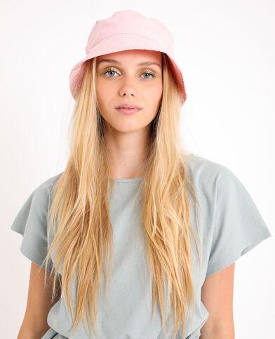 Cappello bob tinta unita rosa