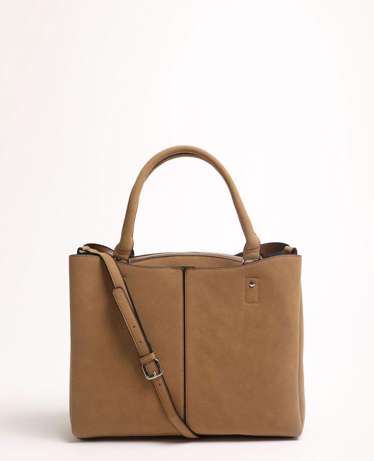 Grande borsa shopping beige corda