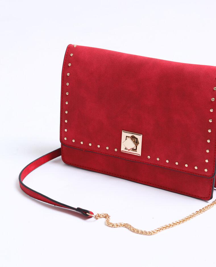Piccola borsa con borchie rosa fucsia
