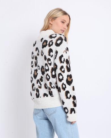 Pull leopardato Beige