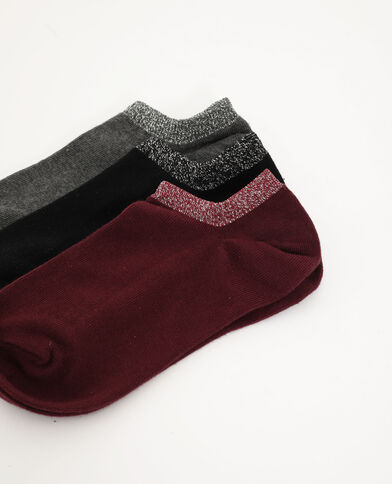 Lotto da 3 paia di calze basse grigio