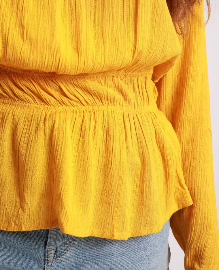 Camicia maniche lunghe giallo