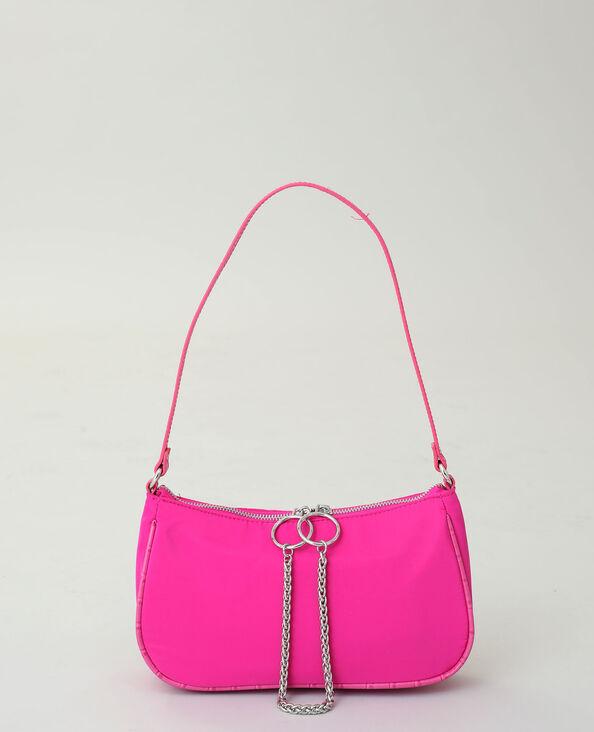 Borsa in nylon rosa fucsia