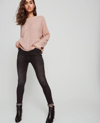 Pull in maglia fantasia rosa