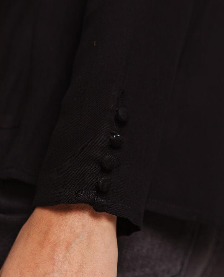 Blusa maniche lunghe nero