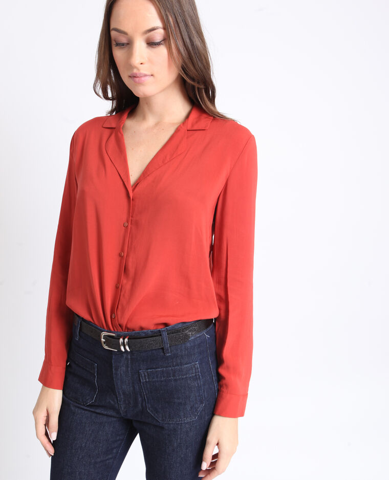 Camicia basic ruggine