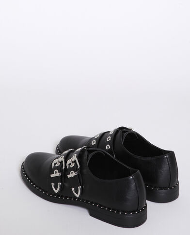 Scarpe derby con fibbie nero